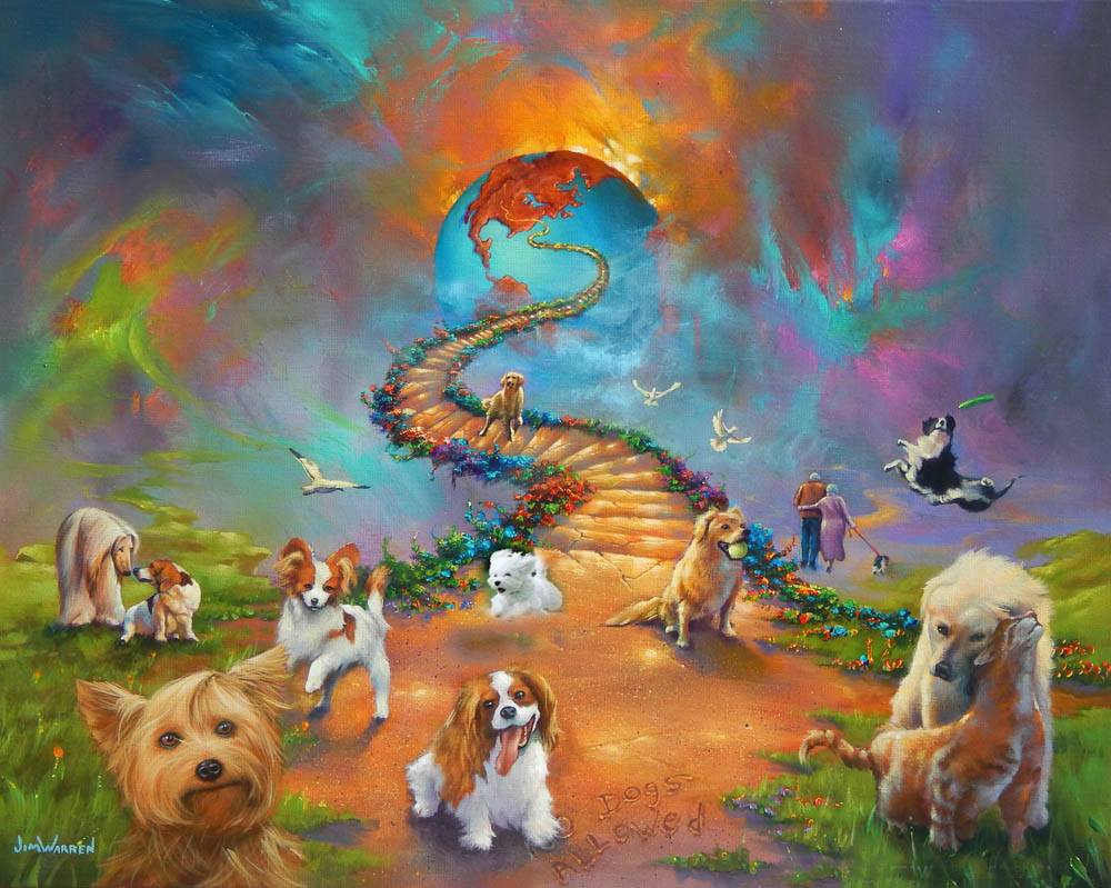 Fine art for Dog painting artist