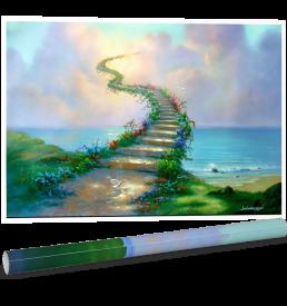 Stairway To Heaven Poster by Jim Warren