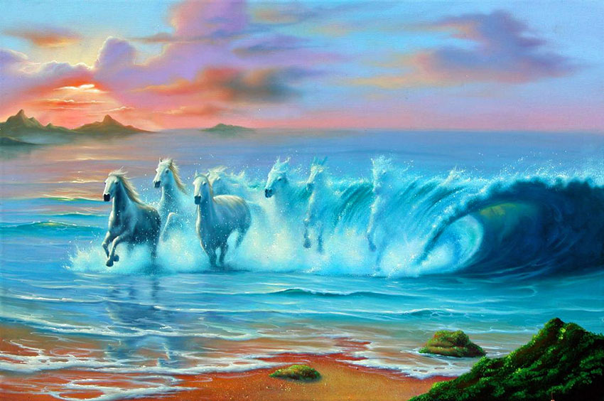 Oil Painting Of Water Surrealism