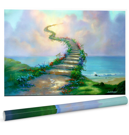Stairway To Heaven Poster by Jim Warren