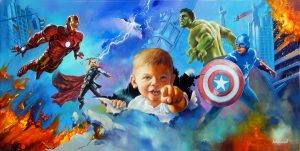Avengers Portrait by Jim Warren