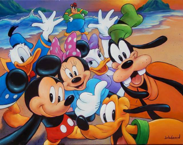 Mickey and the Gang's Selfie by Jim Warren