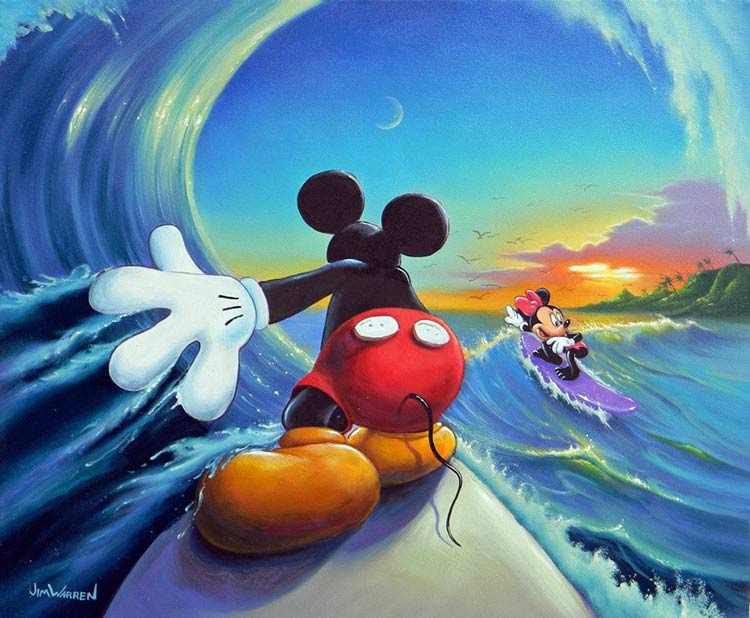 Mickey Rides The Big Wave by Jim Warren
