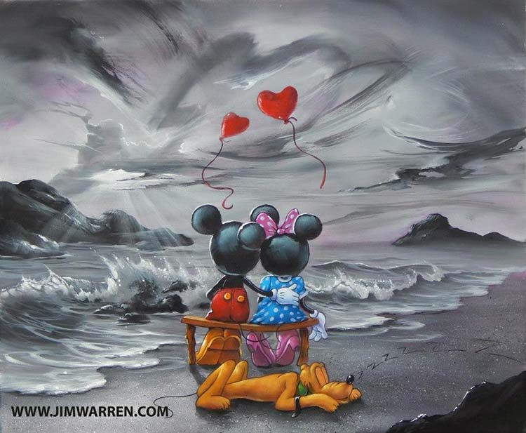 Minnie and Mickey Forever Love by Jim Warren