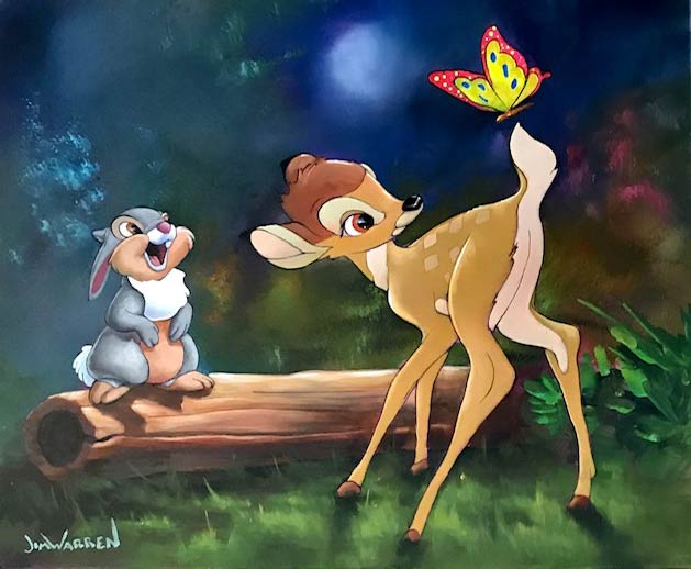 Bambi and Thumper by Jim Warren