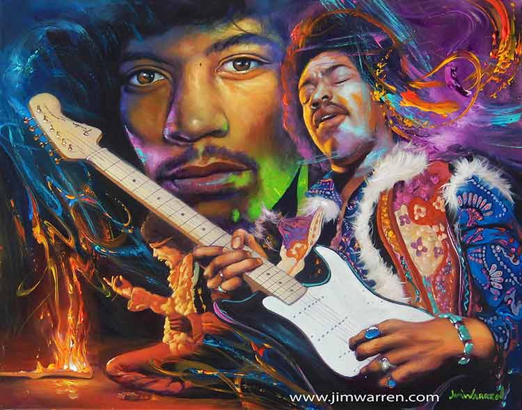 Jimi Hendrix by Jim Warren