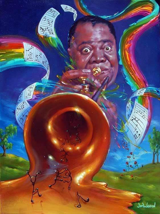 Louis Armstrong by Jim Warren