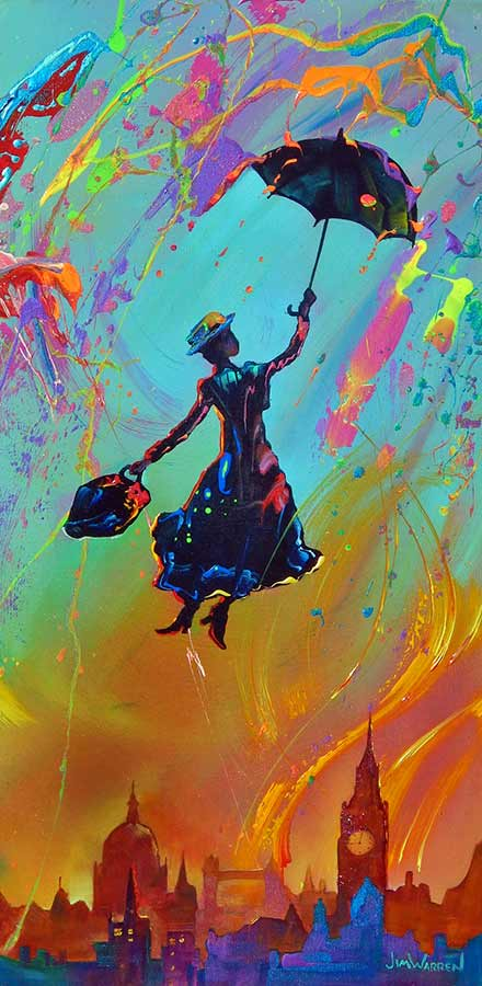 Marry Poppins in Abstract by Jim Warren