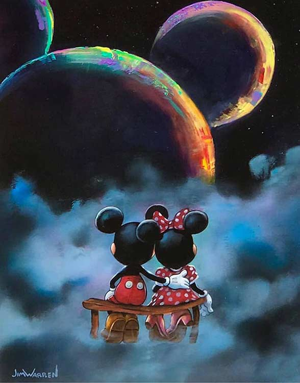 Mickey and Minnie's Universe by Jim Warren