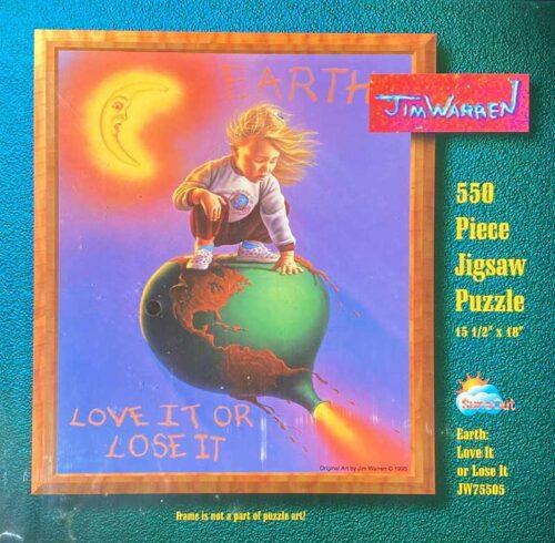 Earth; Love It Or Lose It Puzzle by Jim Warren
